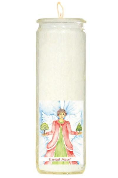 Herzlicht-Kerze -Erzengel Raguel- 20 x 6 cm