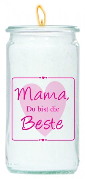 Herzlicht Mama-Kerze im Glas 13 x 6 cm