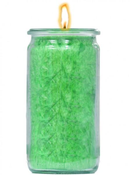 Herzlicht-Kerze grün 13 x 6 cm