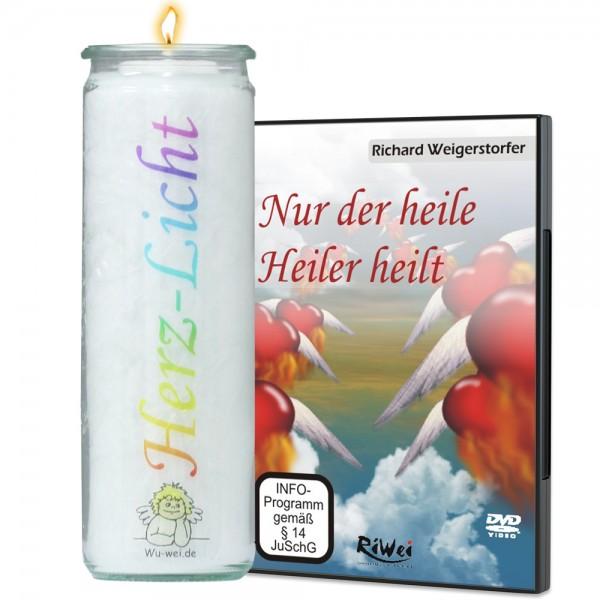 SET- Nur der heile Heiler heilt (DVD) + Kürnacher Herz-Licht Kerze