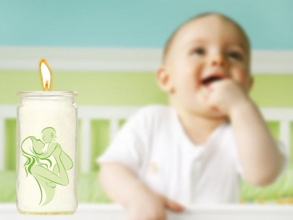 Herzlicht-Kerze Kinderwunsch 20 x 6 cm inkl. Transmitter UT-36