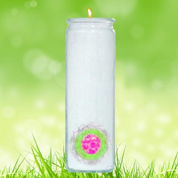Herzlicht-Kerze -Liebes-Schutz-Siegel- 20 x 6 cm