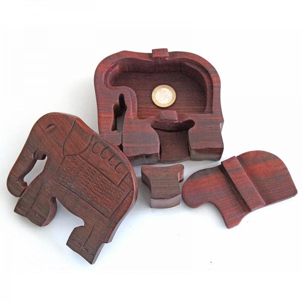 Puzzlebox aus Holz -Elefant-
