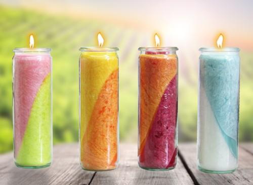 Set- Vier Jahreszeiten Kerzen 20 x 6 cm