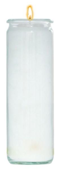 Herzlicht-Kerze weiß 20 x 6 cm