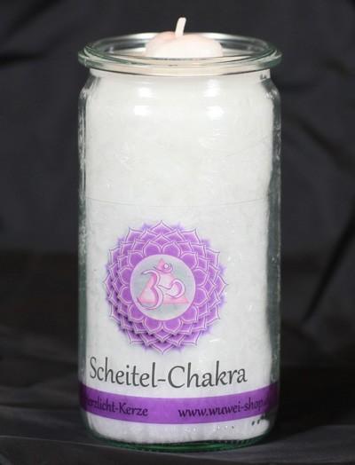 Herzlicht Scheitel-Chakra weiß 13 x 6 cm