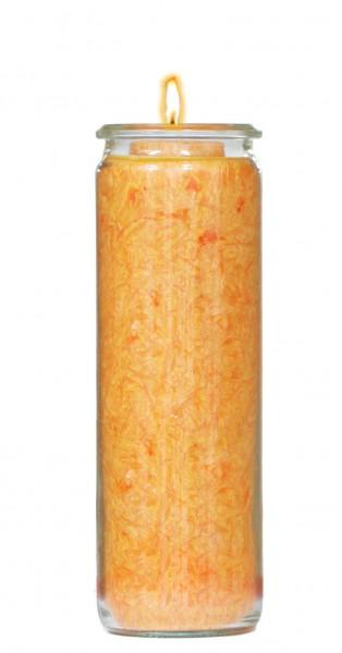 Herzlicht-Kerze orange 20 x 6 cm