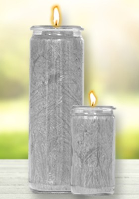 Herzlicht-Kerze SILBER 13 x 6 cm
