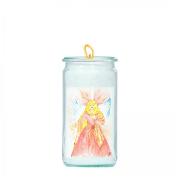 Herzlicht-Kerze -Erzengel Camael- 13 x 6 cm