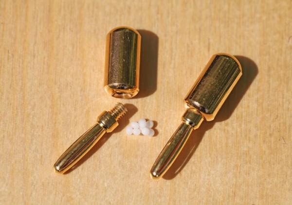 Urteilchen-Kugelstecker oval vergoldet