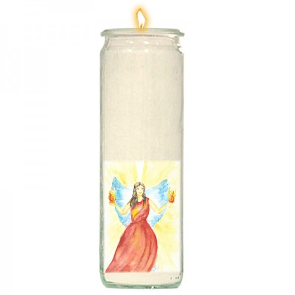 Herzlicht-Kerze Erzengel Uriel 20 x 6 cm