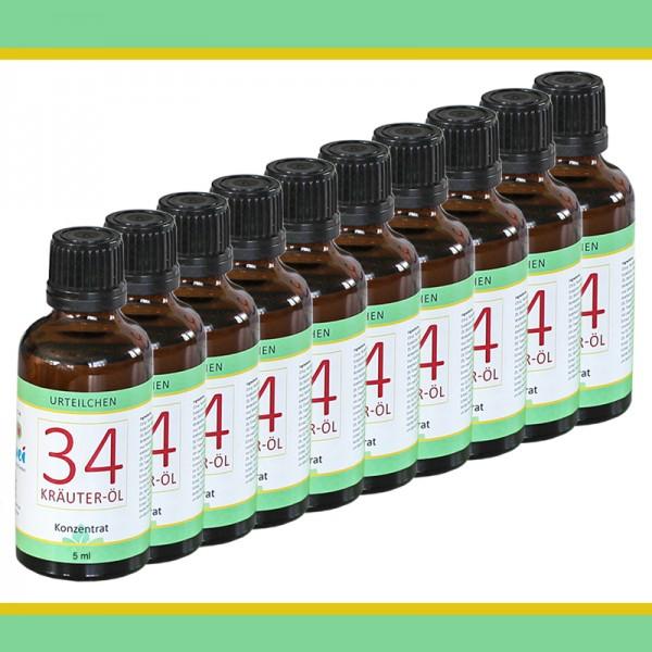 34 Kräuter-Öl 10 x 5 ml