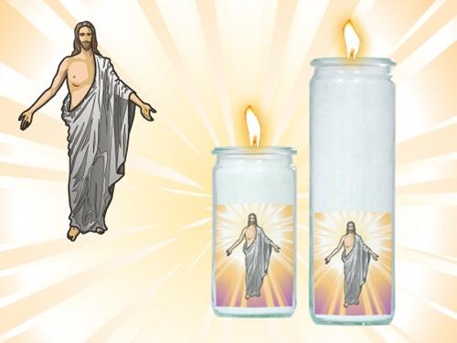 Herzlicht Christuskerze im Glas 13 x 6 cm