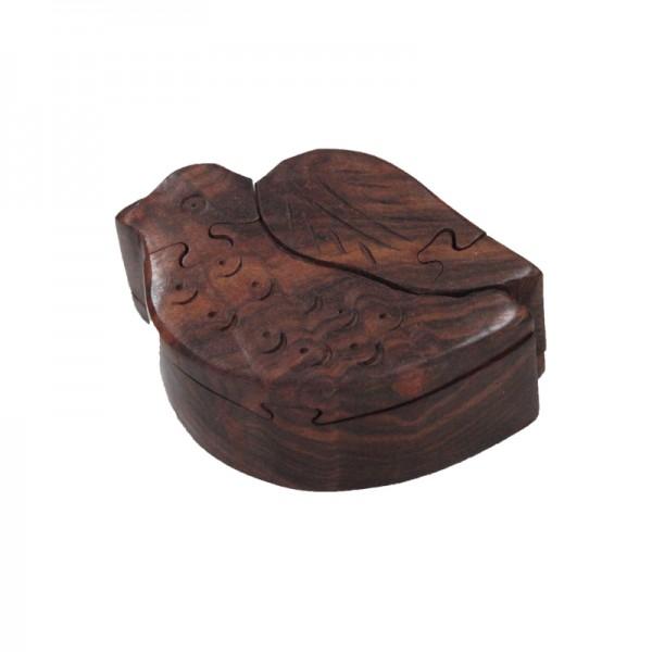Puzzlebox aus Holz -Vogel-