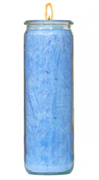 Herzlicht-Kerze hellblau 20 x 6 cm