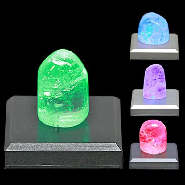 LED-Sockel schwarz inkl. Bergkristall
