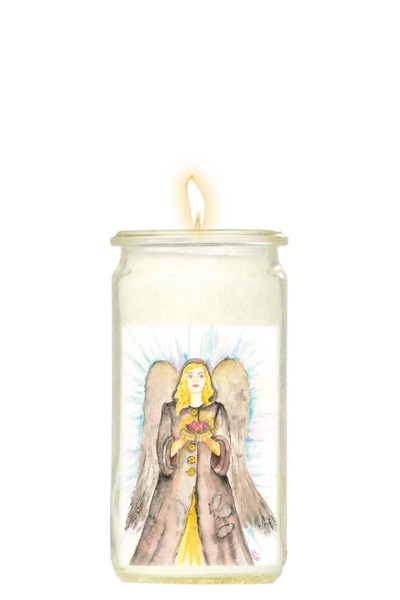 Herzlicht-Kerze Azrael 13 x 6 cm