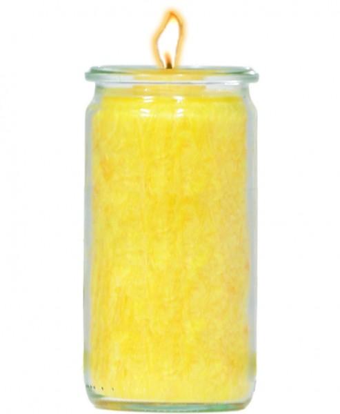 Herzlicht-Kerze gelb 13 x 6 cm