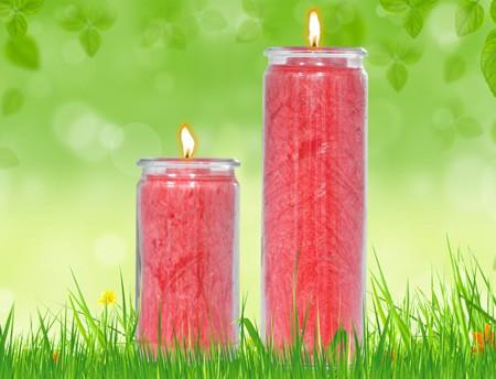 Herzlicht-Kerze inka-rot 13 x 6 cm