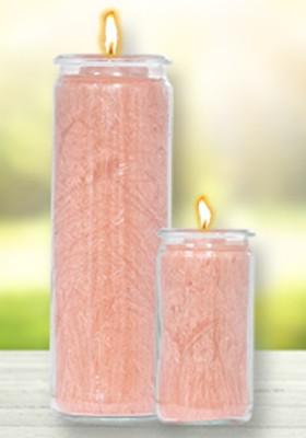 Herzlicht-Kerze Altrosa 20 x 6 cm