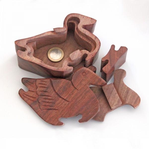 Puzzlebox aus Holz -Ente-