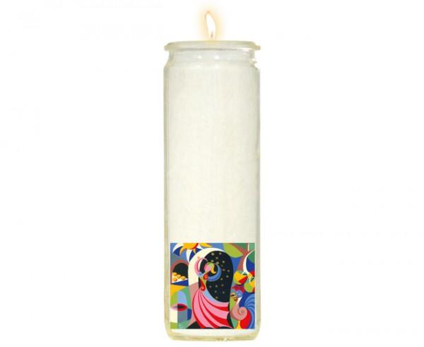 """Herzlicht-Kerze """"Goldmarie"""" 20 x 6 cm"""