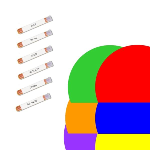 Urteilchen-Transmitter - SET Heilfarben 6 Stück
