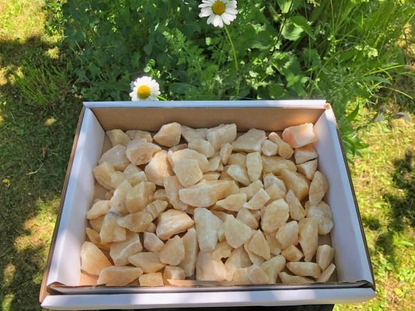 Orangencalcit Splitt 1 - 4 cm (1 kg)