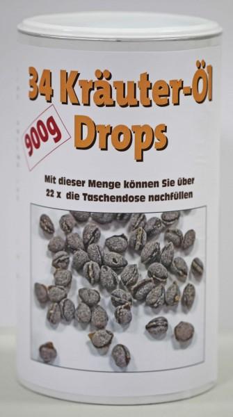 34 Kräuter-Öl Drops 900 g