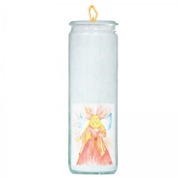 Herzlicht-Kerze -Erzengel Camael- 20 x 6 cm