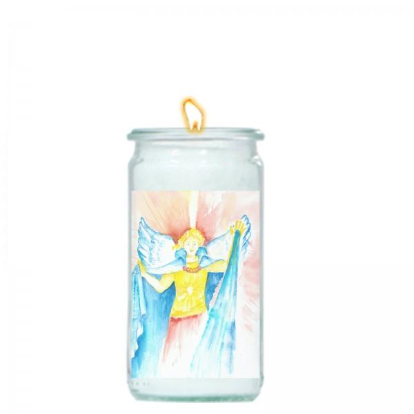 Herzlicht-Kerze -Erzengel Michael- 13 x 6 cm