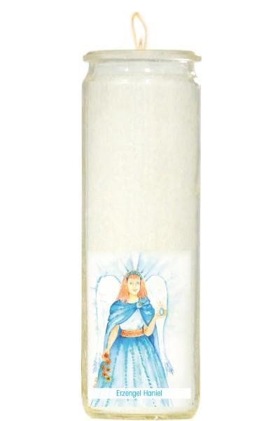 Herzlicht-Kerze -Erzengel Haniel- 20 x 6 cm