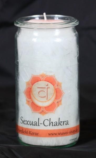 Herzlicht Sexual-Chakra weiß 13 x 6 cm