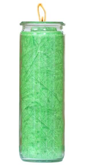Herzlicht-Kerze grün 20 x 6 cm