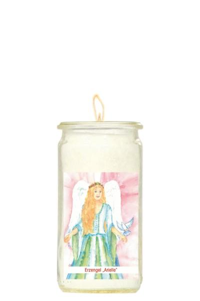 Herzlicht-Kerze -Erzengel Arielle- 13 x 6 cm
