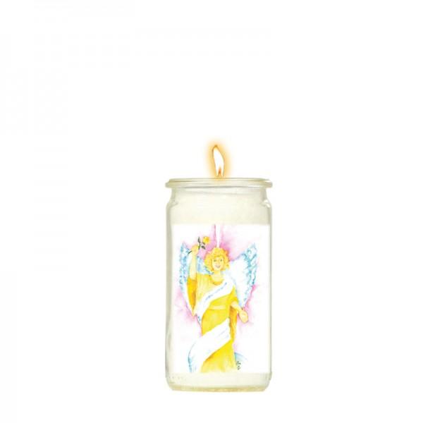 Herzlicht-Kerze Erzengel Jophiel 13 x 6 cm