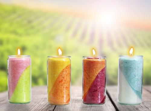 Set- Vier Jahreszeiten Kerzen 13 x 6 cm