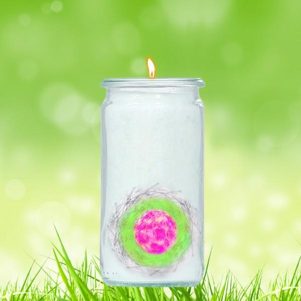 Herzlicht-Kerze -Liebes-Schutz-Siegel- 13 x 6 cm