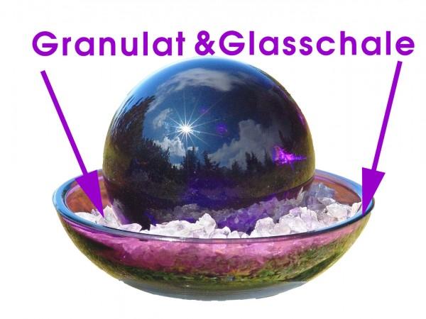 Urteilchen-Glasschale mit Granulat