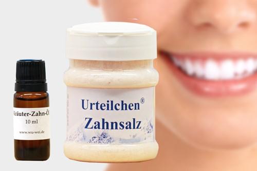Urteilchen-Zahnsalz 250 g mit 10 ml Kräuter-Zahn-Öl