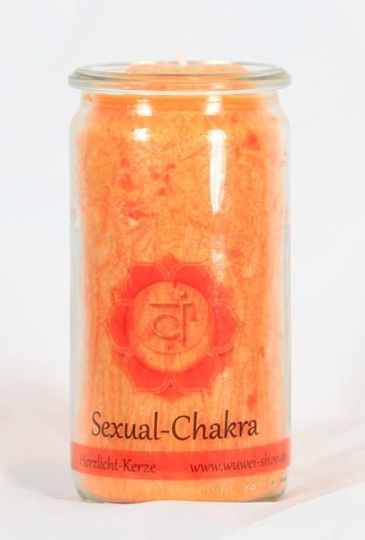 Herzlicht Sexual-Chakra orange 13 x 6 cm