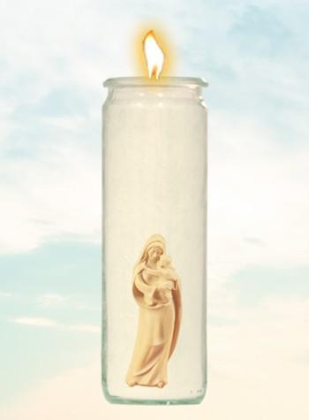 Herzlicht-Kerze Madonna 20 x 6 cm