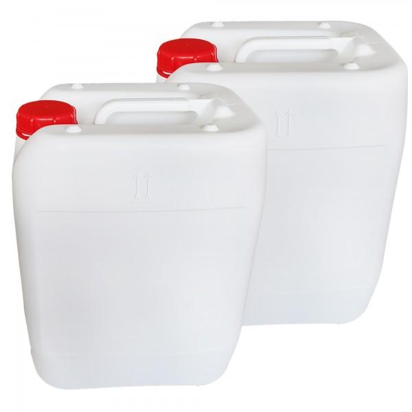 2 x 20 L Behälter weiß DIN 61 Schraubgewinde