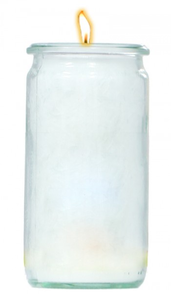 Herzlicht-Kerze weiß 13 x 6 cm