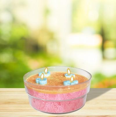 Herzlicht-Kerze -Irene- rosa 7,5 x 18 cm