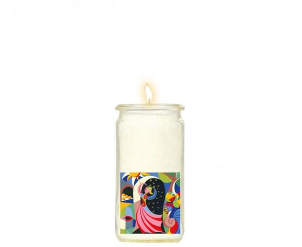 """Herzlicht-Kerze """"Goldmarie"""" 13 x 6 cm"""