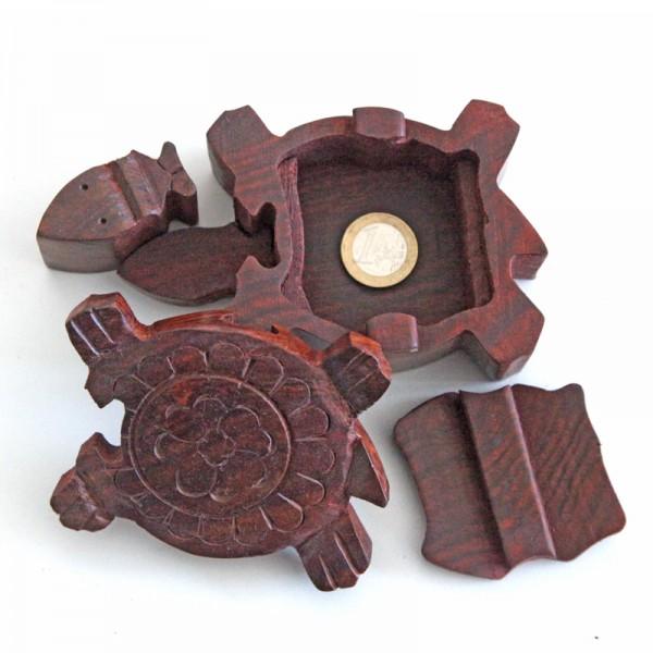 Puzzlebox aus Holz -Schildkröte-