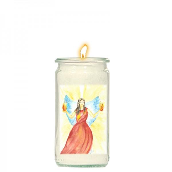 Herzlicht-Kerze Erzengel Uriel 13 x 6 cm