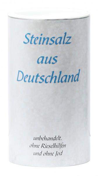 Steinsalz aus Deutschland fein gemahlen 1 kg in der Membrandose