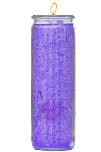 Herzlicht-Kerze violett 20 x 6 cm